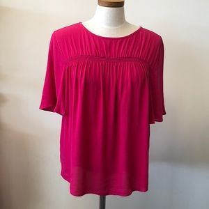 NWT Gibson Latimer blouse Hot Pink